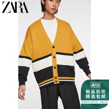 ZARA New Men's Clothing Splice Block Card Sweater 03332310305