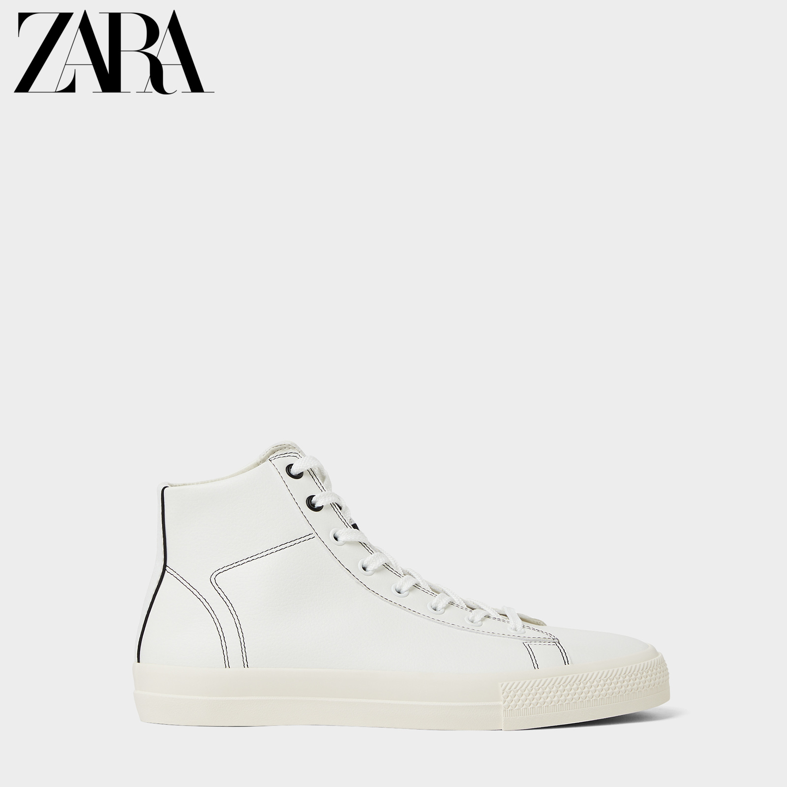 Zara new men's shoes white high top sports Martin Short Boots 12103520001