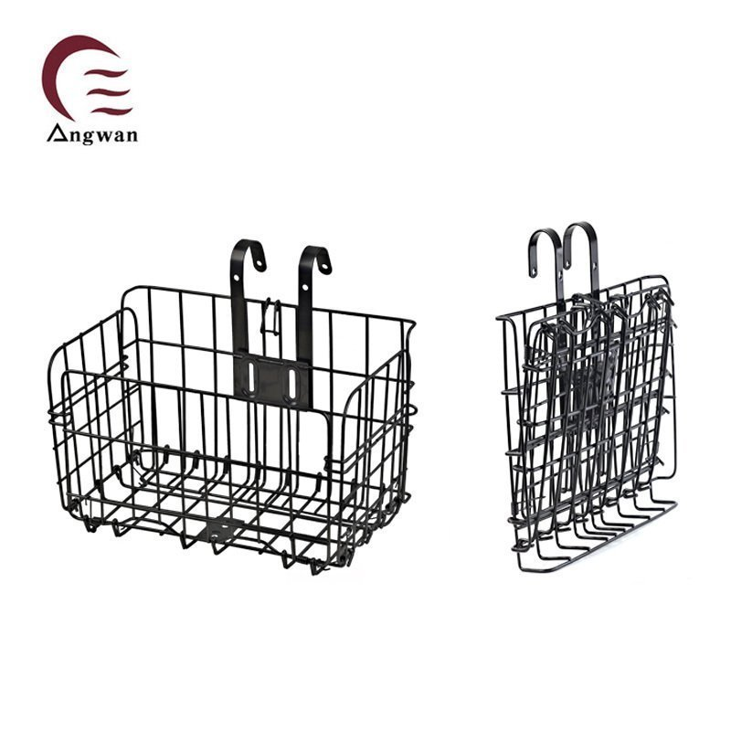Anjie King Coarse Metal Bicycle Basket Front Basket Back Basket Vegetable Basket Pet Basket Frame