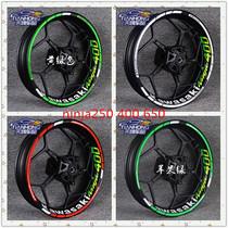 Kawasaki Ninja ninja250 400 650 Modified wheel decals Waterproof reflective wheel decals frame circle stickers