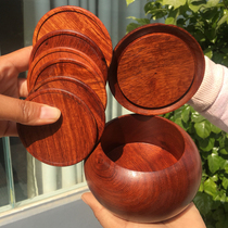 Redwood cup pad big fruit purple sandalwood home tea table set myanmar pear mountain bamboo eight-piece set cup 託