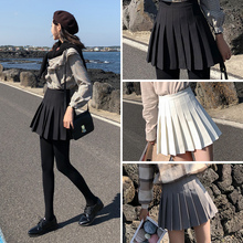 New High-waist Pleated Skirt Short Skirt for Female Autumn and Winter Half-length Skirt