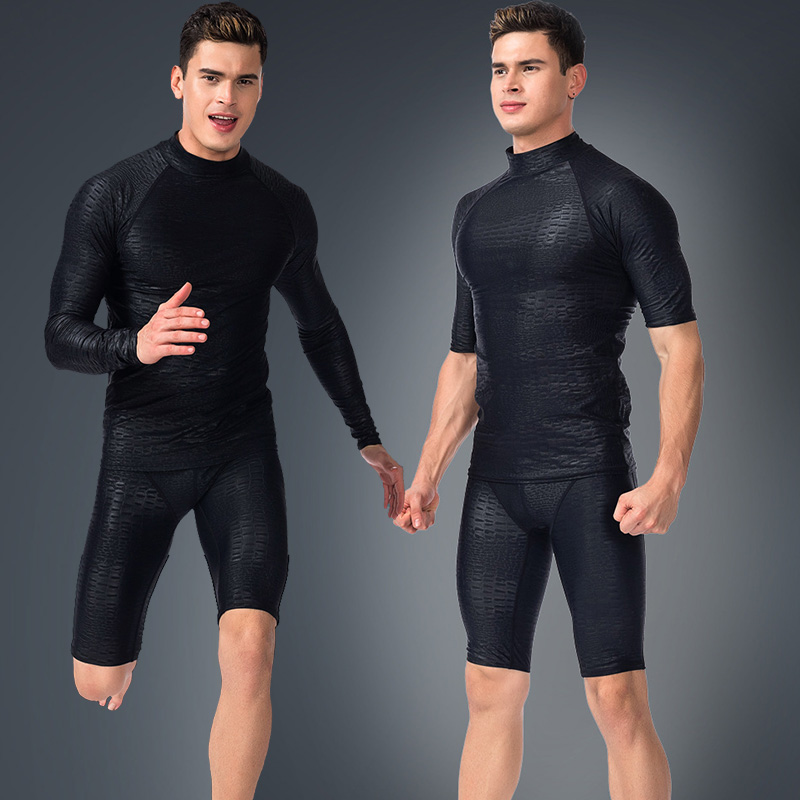 Diving suit men's split surf sunscreen fast-drying long-sleeved swimsuit jacket swimming trunks shark skin scuba jellyfish suit suit