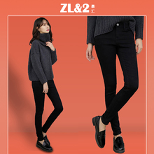 Black jeans women high waist and small feet 9 minutes 2019 new autumn and winter show thin, tall, tight and small elegant