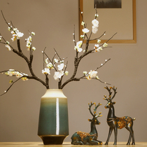 Jingdezhen Ceramic Vases, Blue Chinese Living Room Points, Dry Flower Arrangements and Creative Decorations