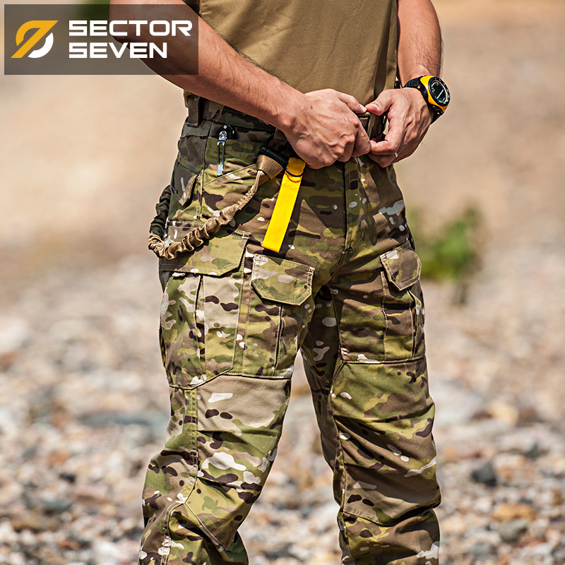 7th District IX2 Hawkeye MC Camouflage Tactical Trousers Army Fan Training Pants Summer Slim Outdoor Overalls Men
