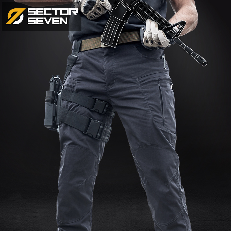 7th District ix8 Scout Trousers Male American Military Fighter Combat Trousers Summer Slim Overalls