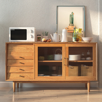 Zeros kobo solid wood Nordic sideboard modern living room porch Cabinet small kitchen cabinet multifunction cabinet