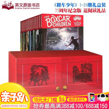 The 75th Anniversary Edition of The Boxcar Children's Boxcar Teenagers 1-20 Volumes Gift Box with Gifts English Original Children's Chapter Bridge Book Adventure Detective Encouragement Novels 7-12 Years Old English Reading