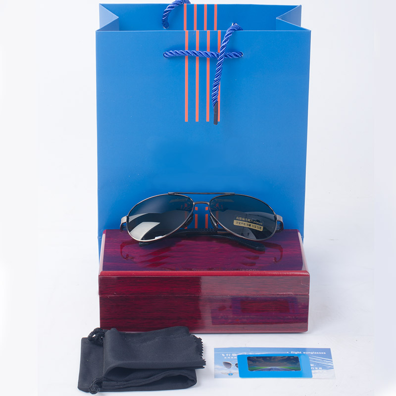 Genuine blue film polarized sunglasses, sunglasses for male and female pilots, goggles for drivers, toads for drivers