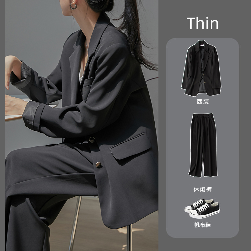 Small suit suit female autumn and winter Korean version of the British wind college students casual fashion temperament professional dress interview suit