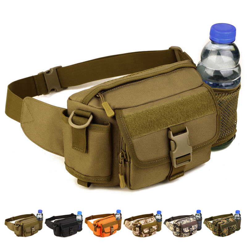 Guardian's Watchbag Male Outdoor Multifunctional Pack Mountaineering Large-capacity Sports Waterproof Lady Water Bottle Slanting Road Pack