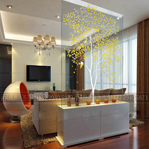 Art glass decoration living room porch partition tempered matte carved screen TV background wall craft custom