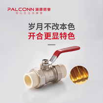 Paikang pipe industry polybutene PB single double live copper ball valve inside and outside the silk ball valve warm water supply under heating available