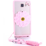 Samsung C7 mobile phone shell cute cartoon hidden mirror c7000 protective cover lanyard all-inclusive fresh female shell