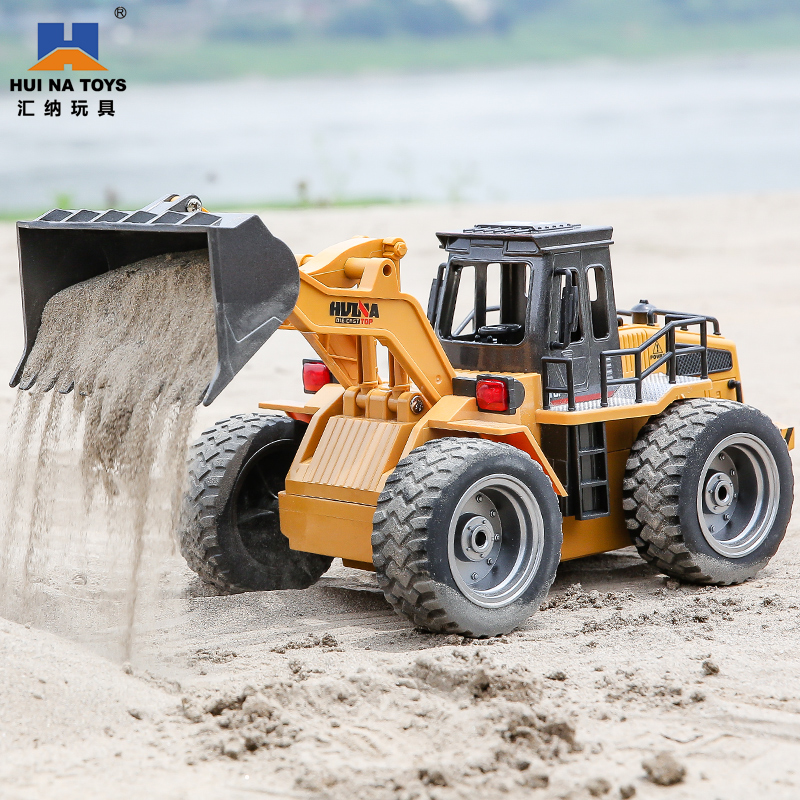Telecontrol Alloy Bulldozer for Huina Engineering Vehicle Children's Electric Loader Small Forklift 3-6-year-old Boys'Toys