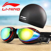 Lining goggles swimming suit plating waterproof HD flat degree myopia swimming glasses for men and women
