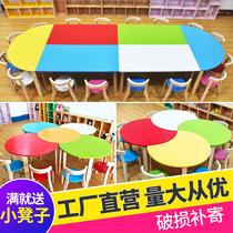 Детский сад столы и стулья раннее обучение детей начальной школы из цельного дерева настольные стулья наборы изобразительное искусство живопись репетиторские учебные столы
