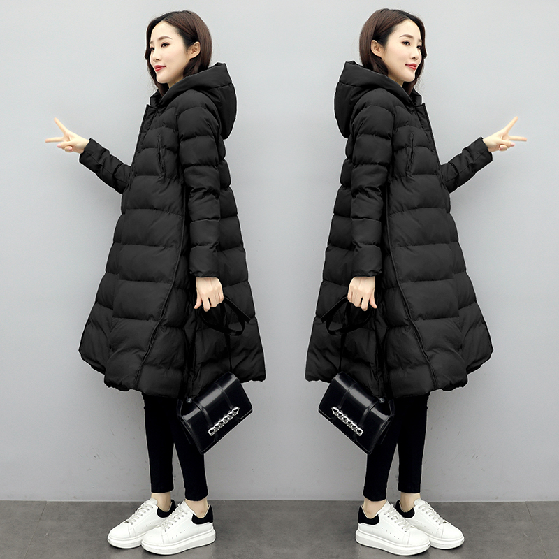 Pregnant womens cotton winter dress down cotton clothing womens autumn and winter coat Korean version of loose pregnancy later cotton wool pregnant clothes winter