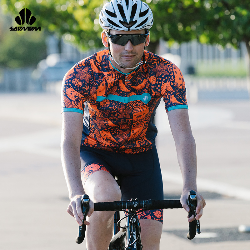 Short-sleeved Suit for Men's Summer Cycling Suit for Expressway Cycling Bicycle Equipments Wellington