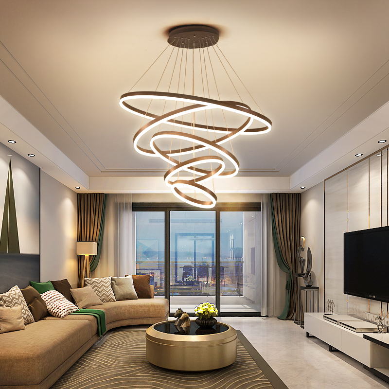 Living room chandelier concise modern atmosphere high-grade villa creative personality post-modern light luxury Nordic lamps dining room lamp