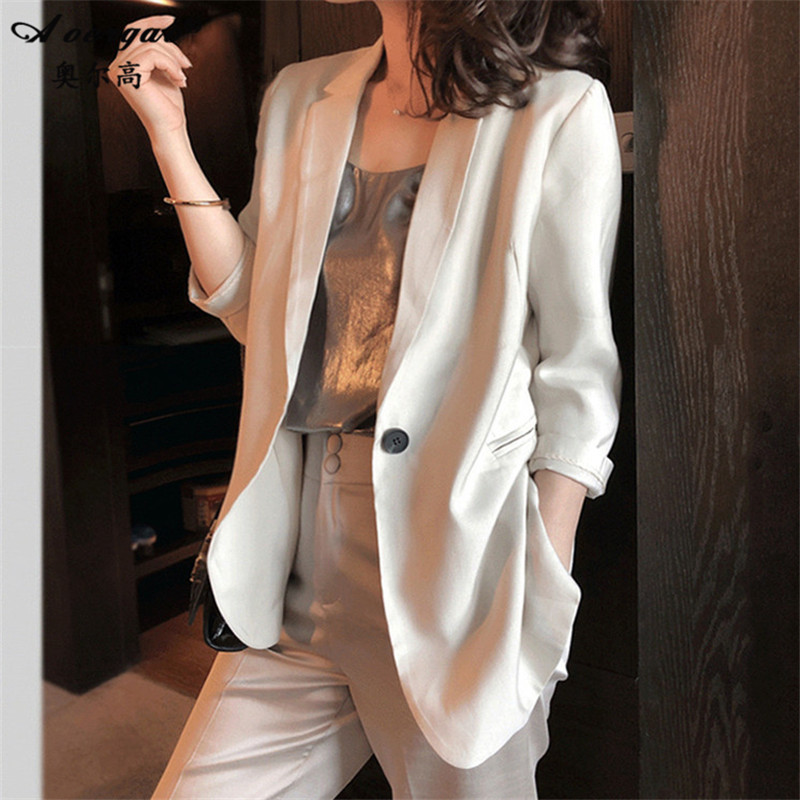 Chic Blazer Jacket Women's Korean British style design sense minority coat women's Retro Hong Kong style suit women's top