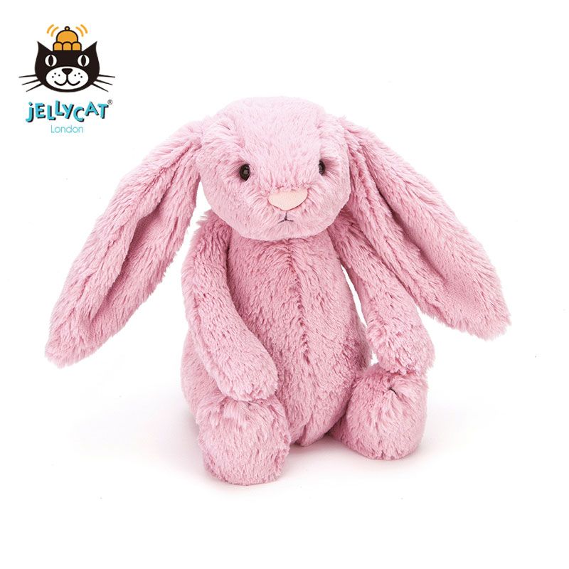 British jellycat shy pink tulip net red Bunny Rabbit soft plush comfort toy doll package