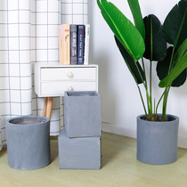 Nordic Cement Flower Pot ins Simple Extra Large Cement Concrete Limestone Ornaments Indoor Balcony