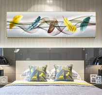4539 Modern minimalist bedroom decorated with Nordic light luxury 牀 head hanging background wall warm living room frescoes