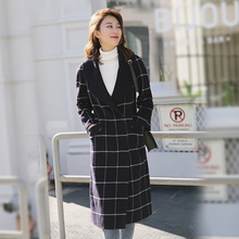 Winter Double-faced Wool Overcoat Female Mid-length Wool Suit Full Wool Body Modification Korean Turn-collar Cashmere Fabric