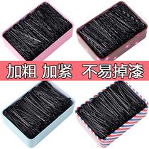 Black word clip hair clip Korean adult wave clip Small black clip headdress Steel clip Girl side clip hair clip Hair accessories