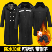 In the long winter coat male thickening cotton coat cotton padded clothes female security service labor security coat