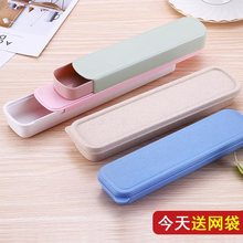 Baby spoon receptacle box for going out baby portable