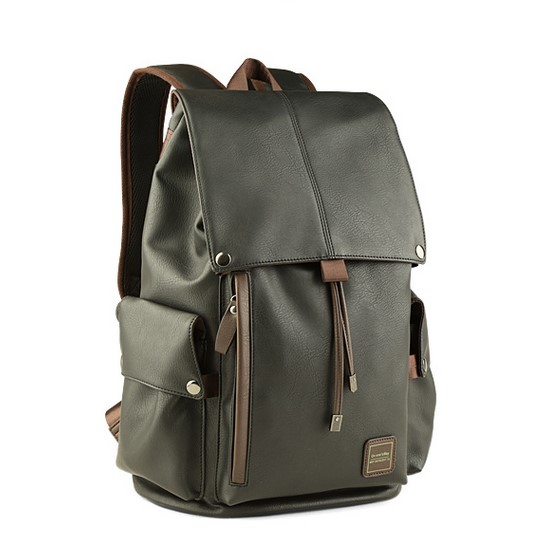 Fashion Men's Backpack, Large Capacity Leather Bag, Student's Backpack