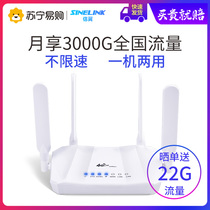 Letter-wing all-network 4G wireless router with wifi card national unlimited traffic office entrepreneurs with portable CPE mobile wifi to wired hot spot on-board wifi transmitter