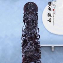 Indien Pterocarpus santalinus gravé Bouddha Avalokitesvara Manjusri Jizo Bodhisattva racine sculpture ornements artisanat