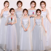 2017 new bridesmaid dresses long thin Bridesmaid bestie sisters graduation show party dress
