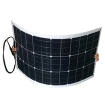 80W Single Crystal Flexible Solar Cell Panel for Vehicle Roof