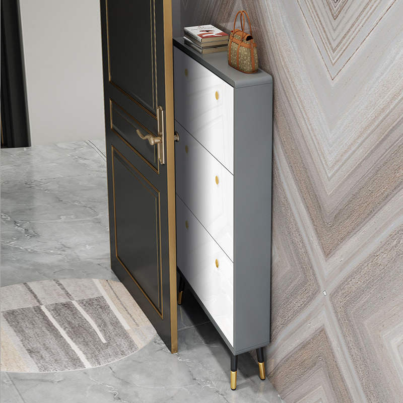 Ultra-thin flip-flop shoe cabinet small household door to save space 17cm shoe cabinet light luxury into the modern storage cabinet