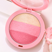 Three baking powder blush blush pearl nude make-up lasting natural rosy petals cream blush