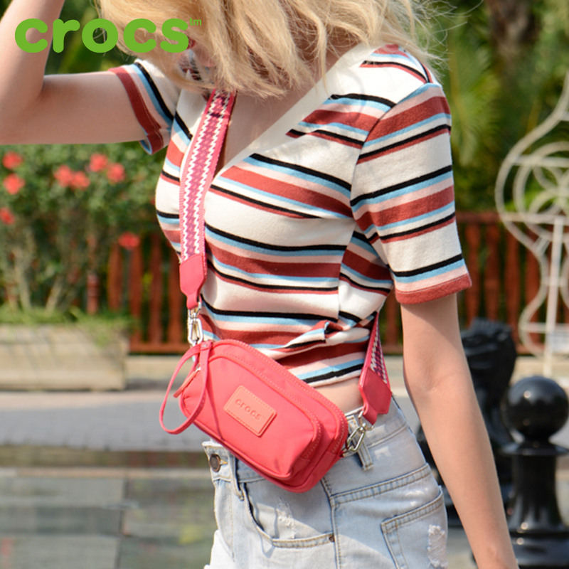 Crocs women's bag 2019, all kinds of INS canvas, fashionable chest bag, Yangqi net, red small bag, cross body style