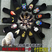 Old Beijing embroidery folk handmade handmade leather shoes, shoes, cloth, leather shoes