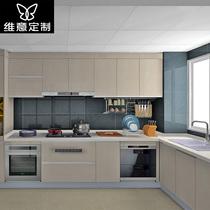Wei Yi custom cabinet custom Assembly home quartz stone modern kitchen kitchen cabinets kitchen cabinets one custom