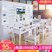Mail, nail, table, chair, suit, single, double, three, European, manicure, table, nail, chair, stool, nail shop.