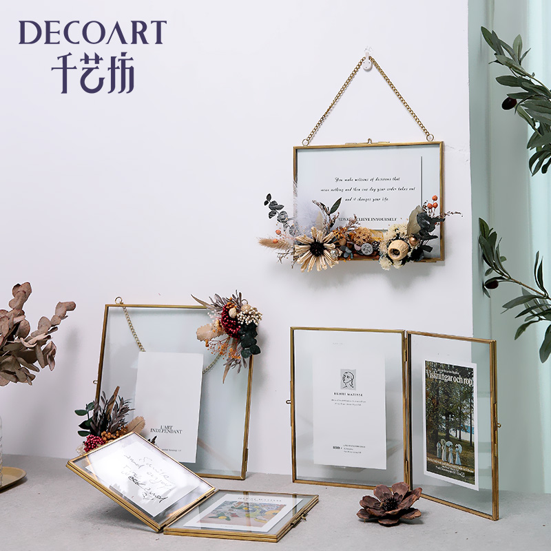 Dry Flower Photo Frame Wall Decoration Net Red Wall Decoration Creative Wall Hanging Bedroom Wall Room Milk Tea Shop Hanging