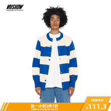 Viishow Fall 2019 New Knitted Shirt Men's Tide Brand Stripe Stitching Card Men's Leisure Sweater Tide