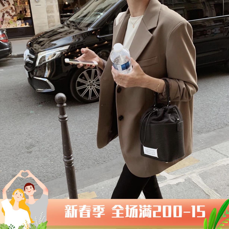 Premium sense suit jacket women 2021 spring and autumn new Korean version of the retro British style temperament small curry suit