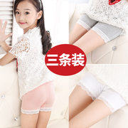 Girls safety pants baby anti exposed cotton three minutes shorts children's underwear lace in the middle of the children's Insurance pants summer