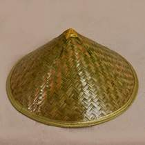 New Bamboo-Woven bamboo hats pure handmade green Mi hats summer outdoor sun-protection bamboo hats top bamboo skin green leather hats