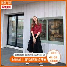 Xia Da-fat mm Korean version of body-building suit in early autumn temperament large size 2019 new loose age-reducing jacket casual pants